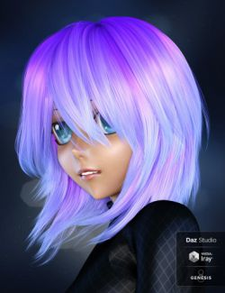 Jette Hair for Genesis 3 and 8