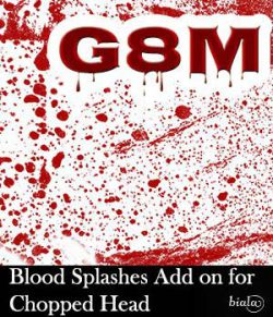 Blood Splashes Add on for Chopped Head G8M