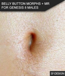 Belly Button Morphs for Genesis 8 Males and Merchant Resource