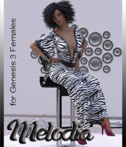 Melodia dforce Outfit for G3F Daz Studio