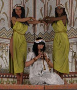 dForce Ancient Musician for Genesis 3 Female and Genesis 8 Female