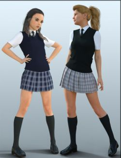H&C School Uniforms for Genesis 8 Female(s)