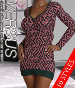 VERSUS- dforce Take Ten Jumper Dress G3F G8F
