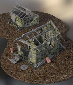 Derelict Buildings  for DAZ Studio