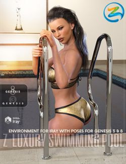 Z Luxury Swimming Pool- Environment with Poses for Genesis 3 & 8