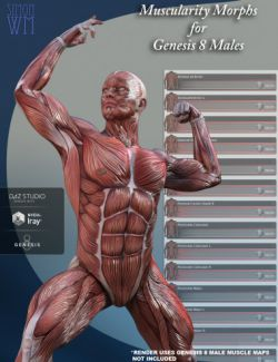 Muscularity Morphs for Genesis 8 Male(s)