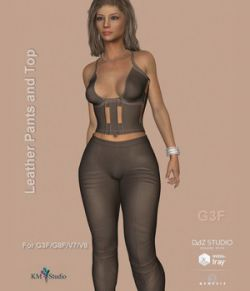 KM-Leather Pants and Top- For G3F and G8F Victoria 7 and 8