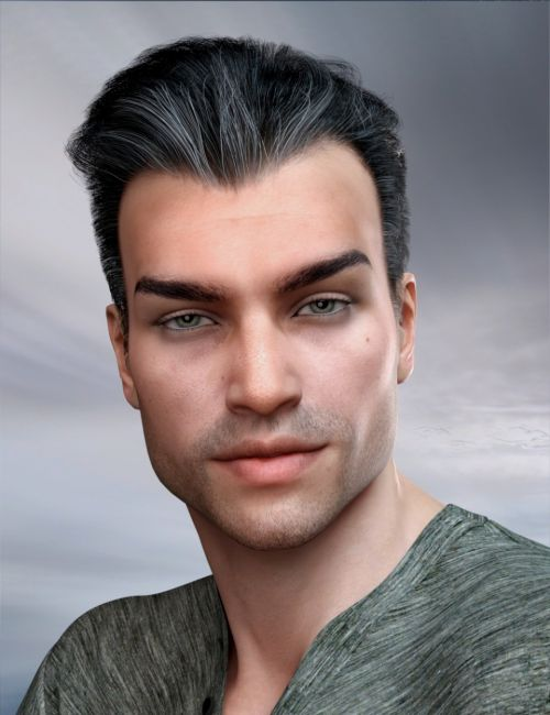 Commander Hair for Genesis 3 and 8 Male(s)