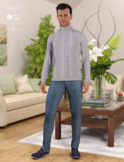 dForce Sweater Outfit for Genesis 8 Male(s)