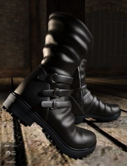 Strap Boots for Genesis 8 Male(s)