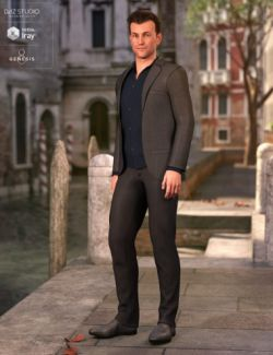 dForce Casual Suit Outfit for Genesis 8 Male(s)