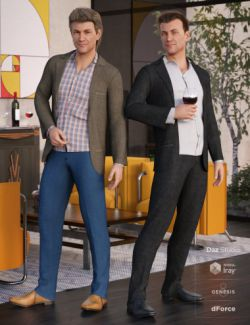 dForce Casual Suit Outfit Textures