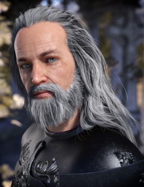 Odin Hair & Beard for Genesis 8 Male(s)