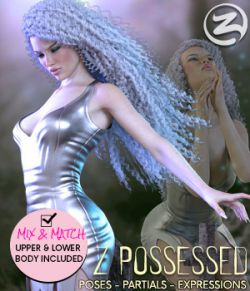 Z Possessed- Poses with Partials and Expressions for the Genesis 3 & 8 Females
