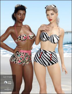 Vacation Textures for the High Waist Pinup Bikini