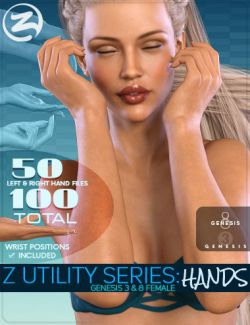 Z Utility Series: Hands for Genesis 3 & 8 Female