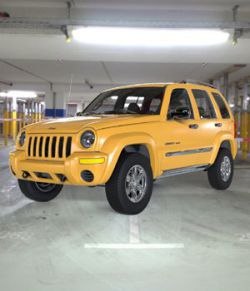 Jeep Liberty 2002- OBJ/ 3ds- Extended License