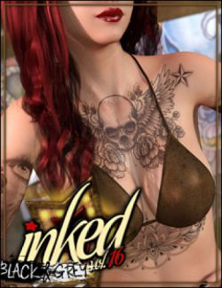 Inked Vol.16: Black & Grey for Genesis 8 Female(s)