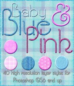 Baby Blue and Pink Styles