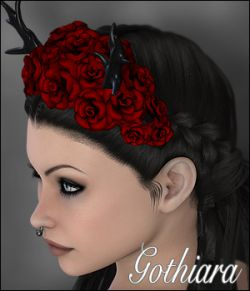 Gothiara Rose - Hair Piece Props