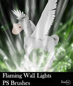 Flaming Wall Lights PS Brushes