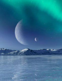 Frozen World- Icy Lake and Iray HDRI