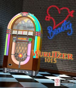 WURLITZER 1015 JUKE BOX  for Poser