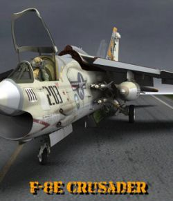 F8E Crusader for Poser