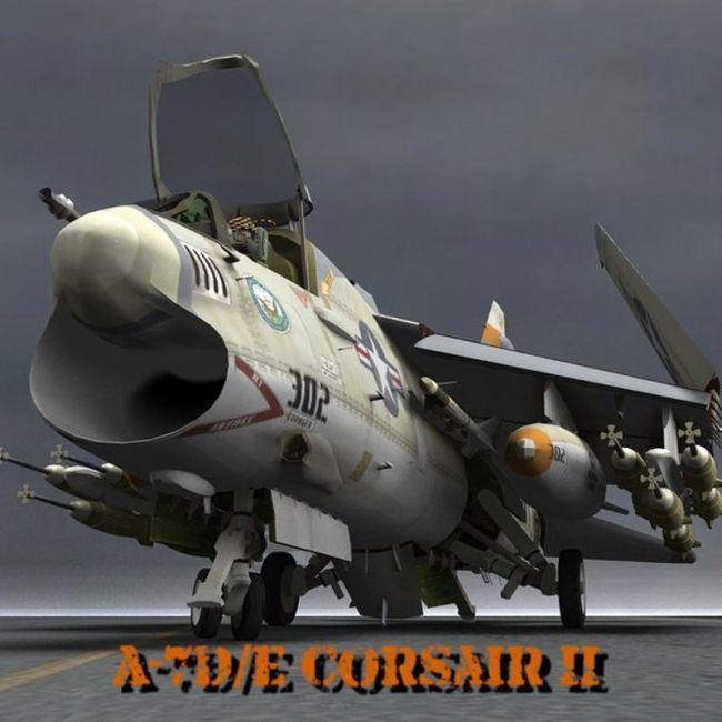 A7D/E Corsair II for Poser