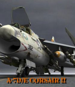 A7D/E Corsair II for Poser