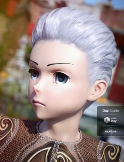 Short Anime Hair for Genesis 3 and 8 Male(s)
