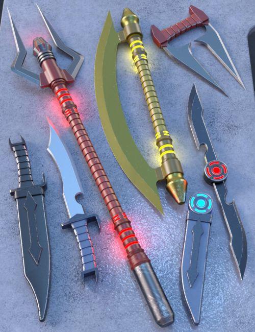 Dark Sci-fi Weapons