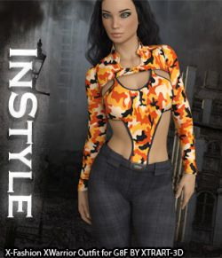 InStyle- X-Fashion XWarrior Outfit for Genesis 8 Females