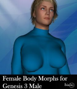 Female Body Morphs for Genesis 3 Male