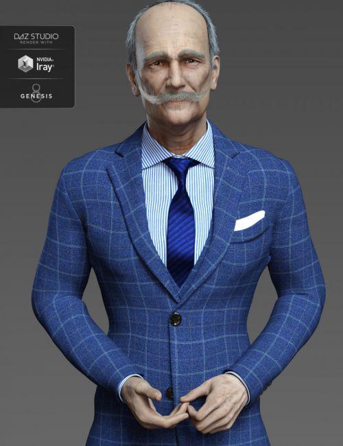 Aldo HD and Mustache for Genesis 8 Male