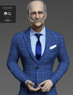 Aldo HD and Mustache for Genesis 8 Male
