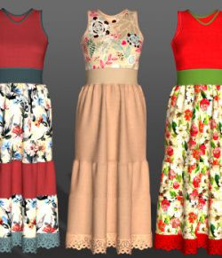 Flowers for PE Summer Ruffledress