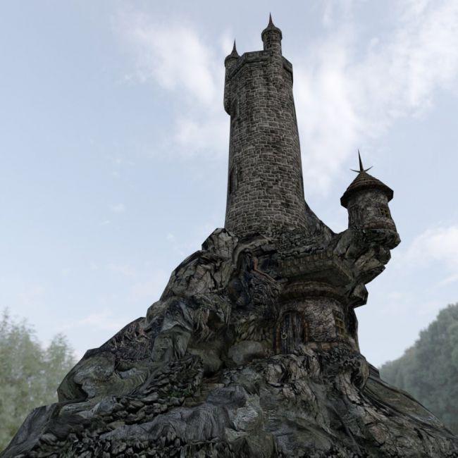 Wizard`s Tower for DAZ Studio | Architecture for Poser and Daz Studio