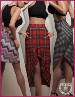 dForce Casual Closet Skirt Collection for Genesis 8 Female(s)