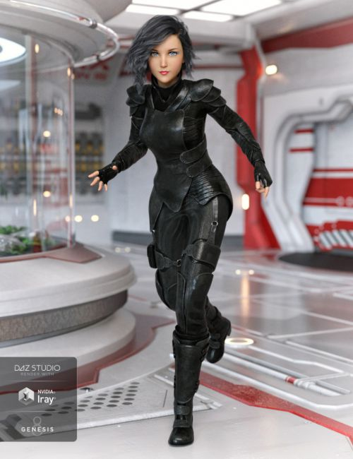 Sci-fi Action Outfit for Genesis 8 Female(s)
