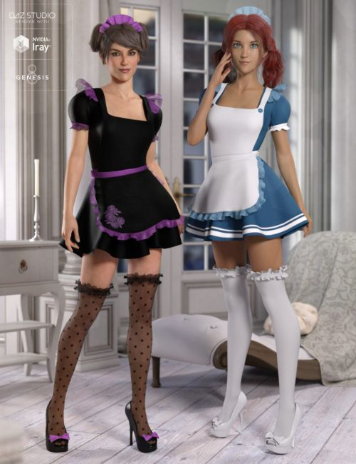 dForce Maid Outfit Textures