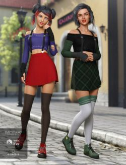 dForce Cherry Blossom Outfit Textures