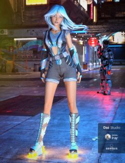 Aldebaran X-49 Outfit for Genesis 8 Female(s)
