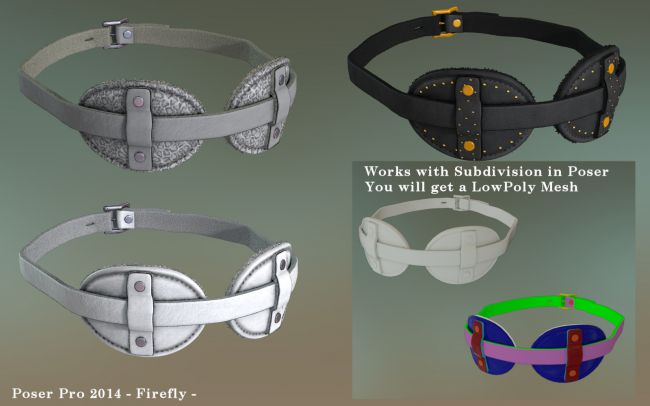 BlindfoldZZ for Poser | Accessories for Poser and Daz Studio