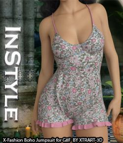 InStyle- X-Fashion Boho Jumpsuit for Genesis 8 Females