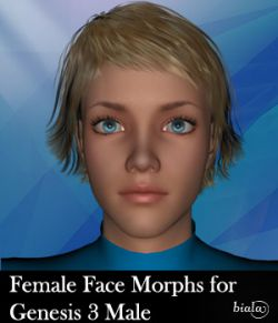 Female Face Morphs for Genesis 3 Male