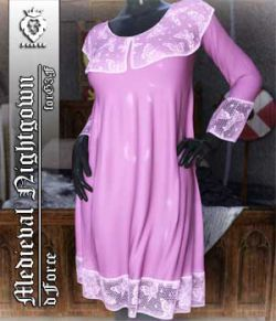 JMR dForce Medieval Nightgown for G3F
