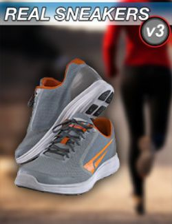 Slide3D Real Sneakers III for Genesis 3 and 8 Female(s)