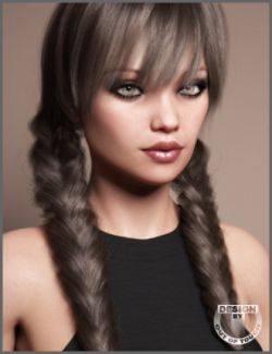 Madeline Tails Hair for Genesis 3 and 8 Female(s)