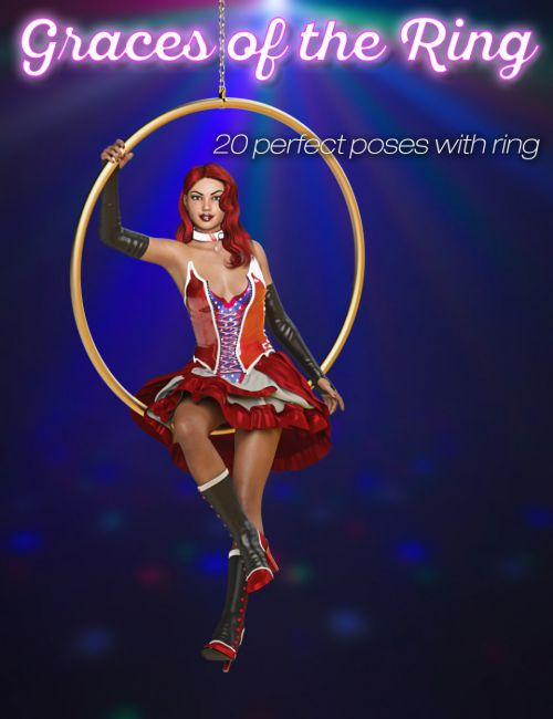 Slide3D Graces of the Ring Prop and Poses for Genesis 3 and